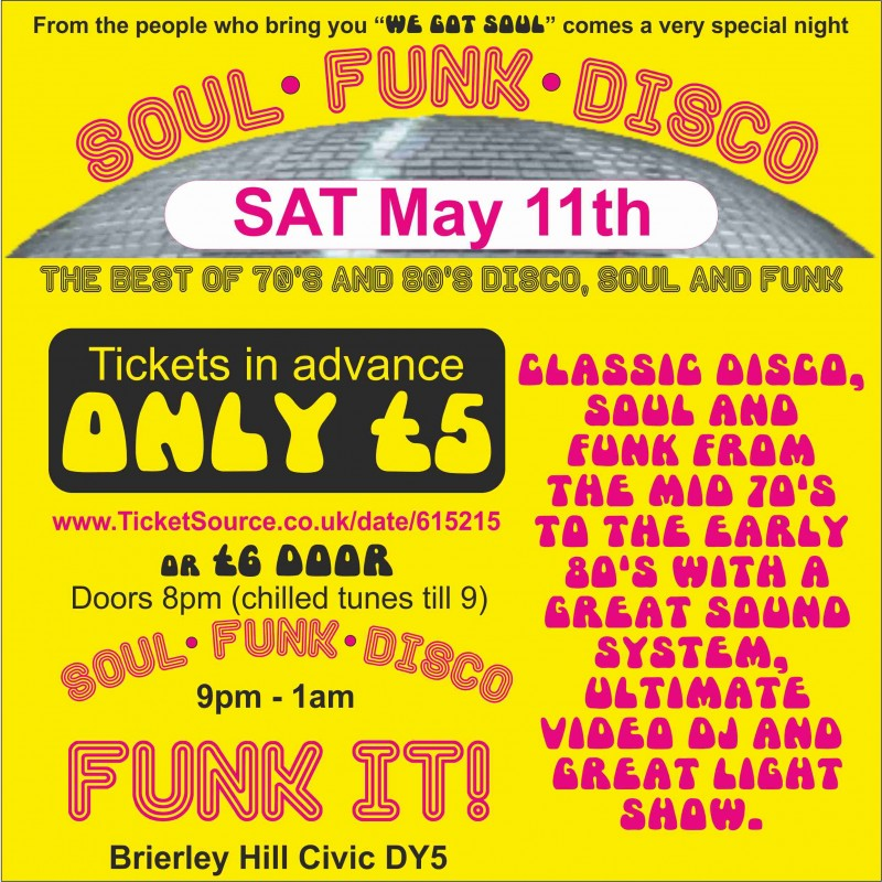 Soul Funk Disco, 11th May 2019