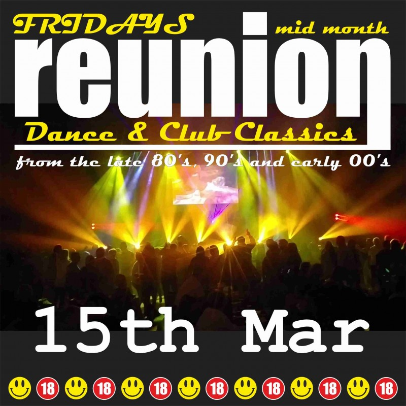 ReUnion, Back to School Disco, Friday 15th March 2019
