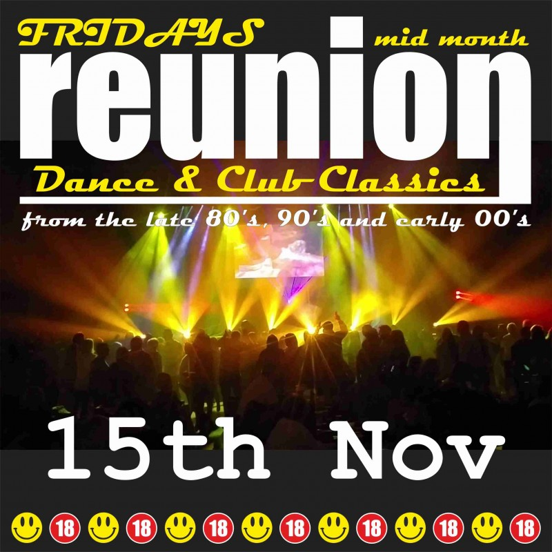 ReUnion, Back to School Disco, Friday 15th November 2019