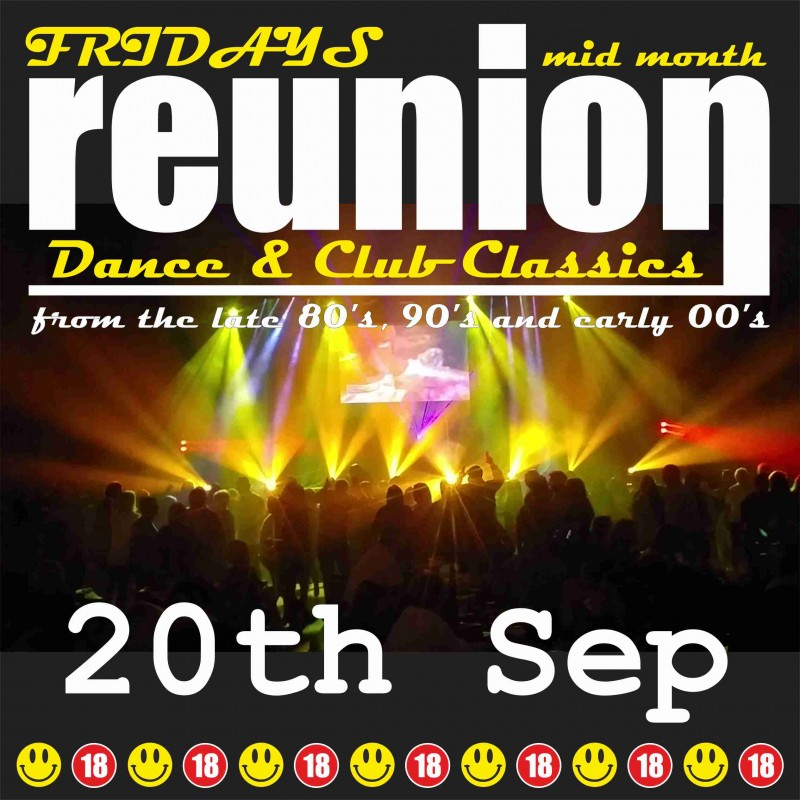 ReUnion, Back to School Disco, Friday 20th September 2019