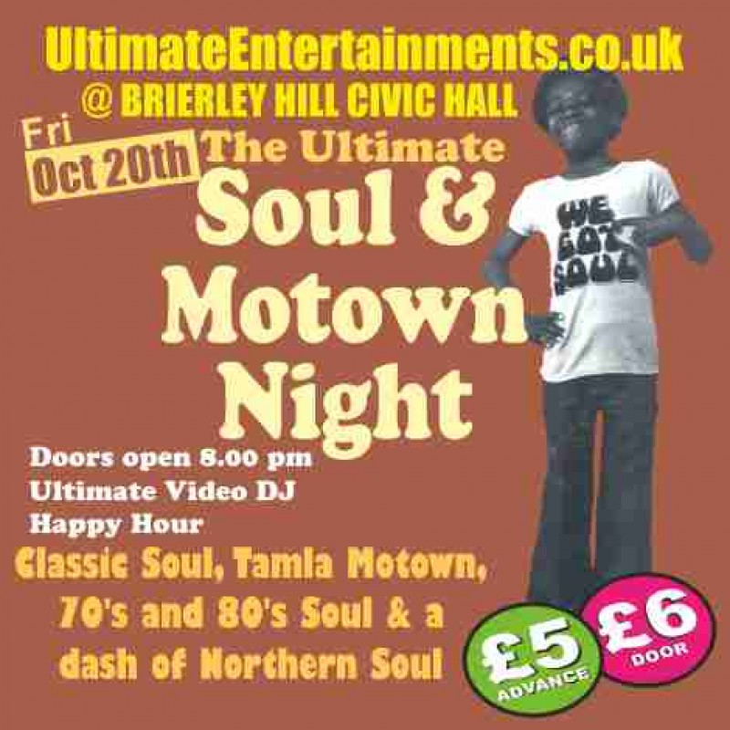 Ultimate Soul & Motown Night