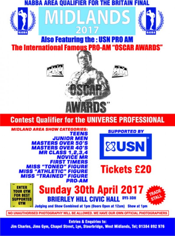 NABBA Body Building Show, 30th April 2017