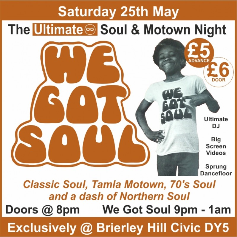 Ultimate Soul & Motown Night, 25th May 2019