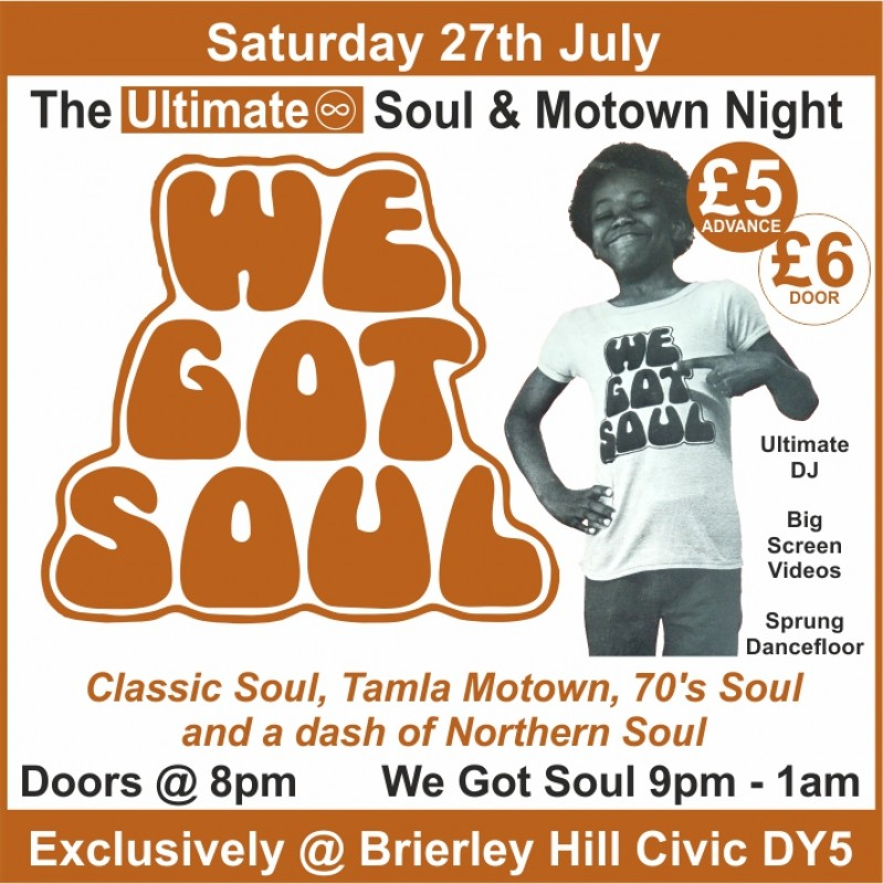 Ultimate Soul & Motown Night, 27th July 2019