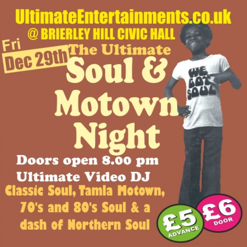 Ultimate Soul & Motown Night, 29th December 2017