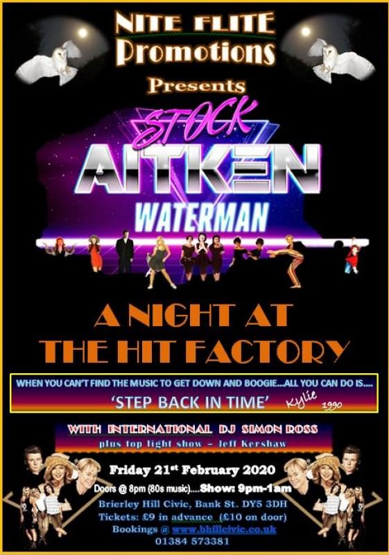 A Night At The Hit Factory, The best of Stock, Aitken and Waterman, 21st February 2020