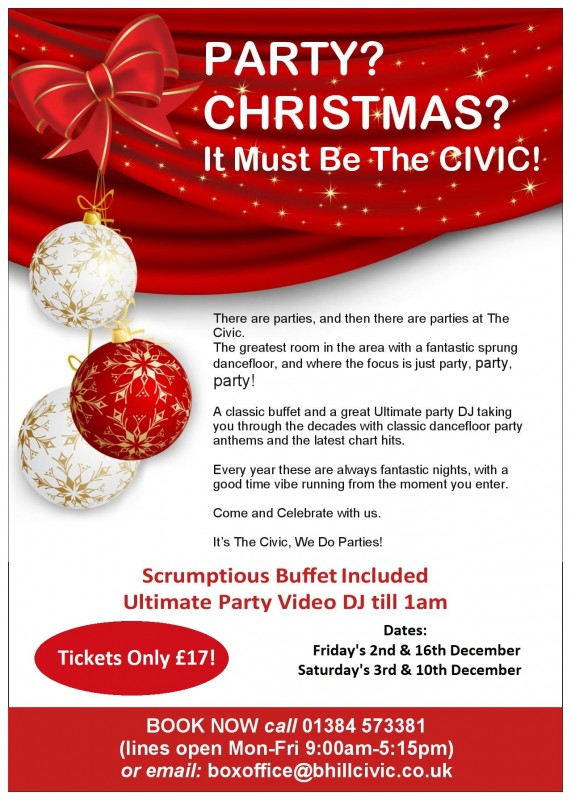 2021 Christmas Parties At The Civic - 10th & 11th December 2021