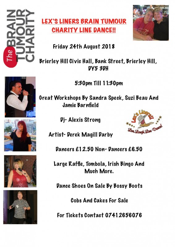 Lex's Liners Brain Tumour Charity Line Dance, Friday 24th August 2018
