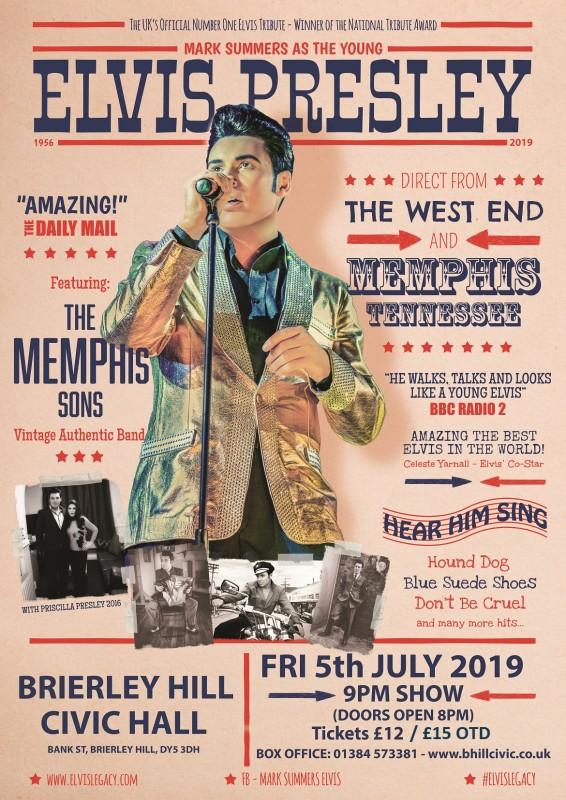 Elvis Legacy, Mark Summers and the Memphis Sons. 5th July 2019