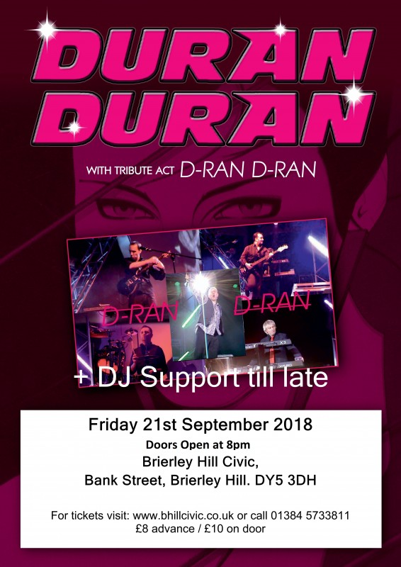 80's / 90's Night, Starring: D-ran D-ran Live Band + DJ Support Until Late, 21st September 2018