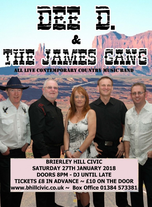 Dee D. & The James Gang, Saturday 27th January 2018