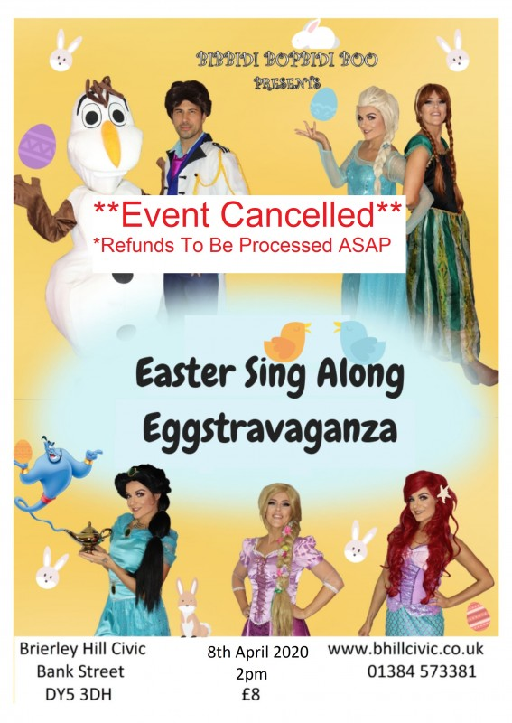 **CANCELLED** Easter Sing Along Eggstravaganza! 8th April 2020