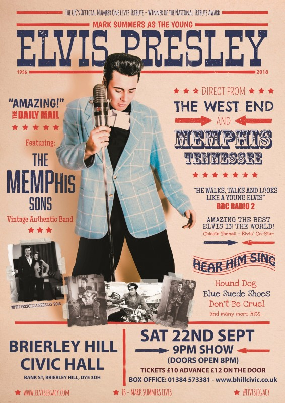 Elvis Legacy, Mark Summers and the Memphis Sons. 22nd September 2018