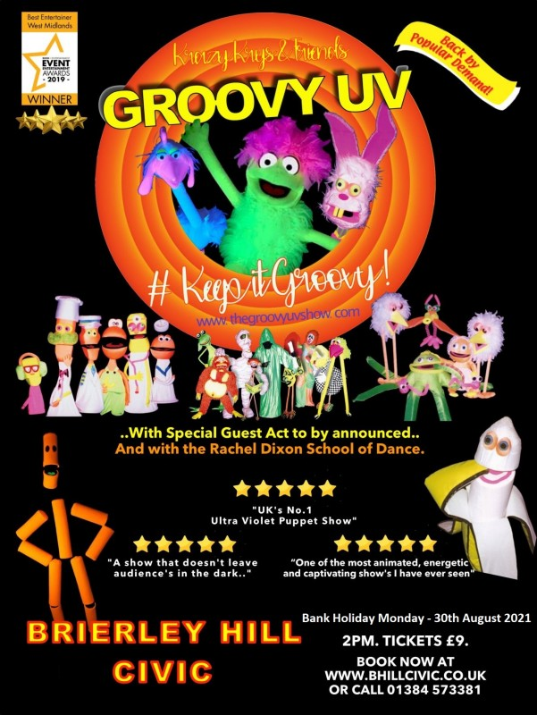 KRAZY KRYS & FRIENDS, Groovy UV Show, 2nd August 2020