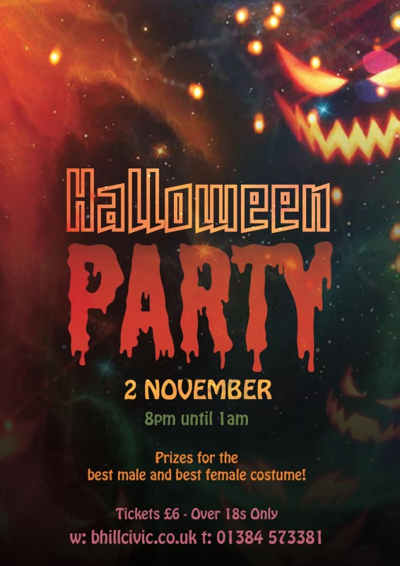 The Civic Halloween Party! 2nd November 2018