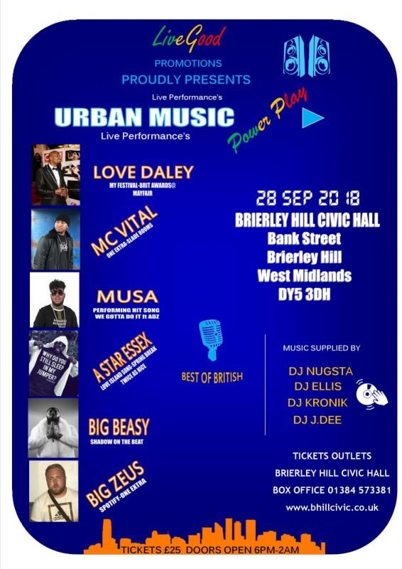 Urban Music Night, 28th September 2018