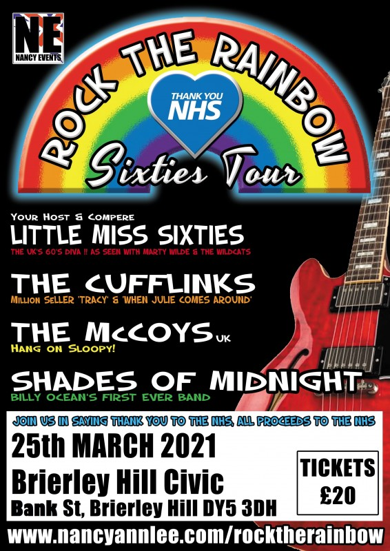 Rock The Rainbow Sixties Tour For The NHS, 25th March 2021