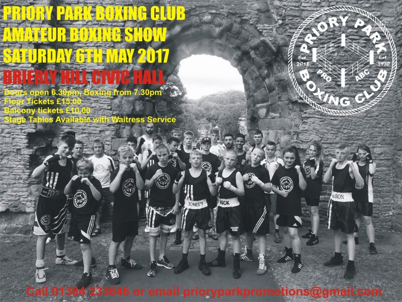 Priory Park Amateur Boxing Club Presents An Evening Of Live Boxing