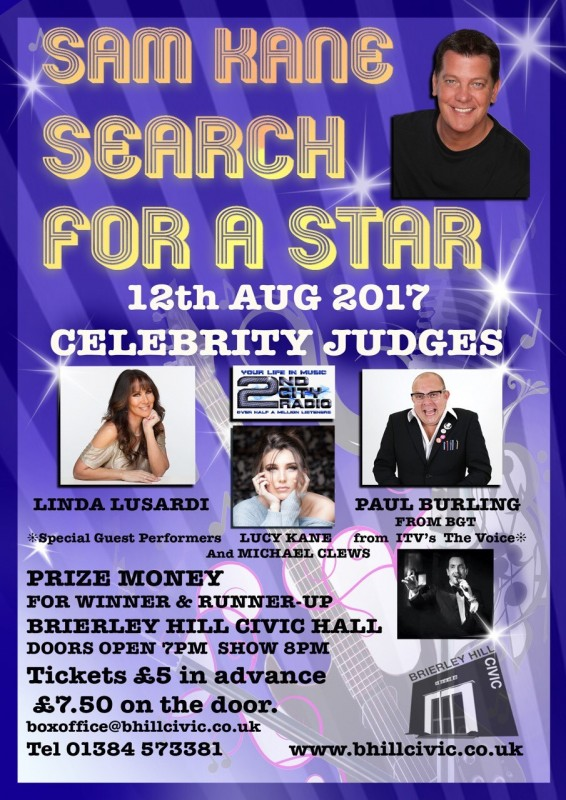 Sam Kane's Search For A Star. Saturday 12th August 2017