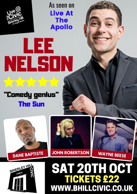 Comedy Night 'Live at the Civic' 20th October 2018