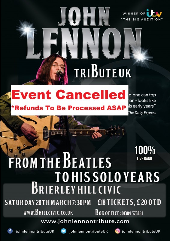 Lennon Retrospective + Full Band, 28th March 2020