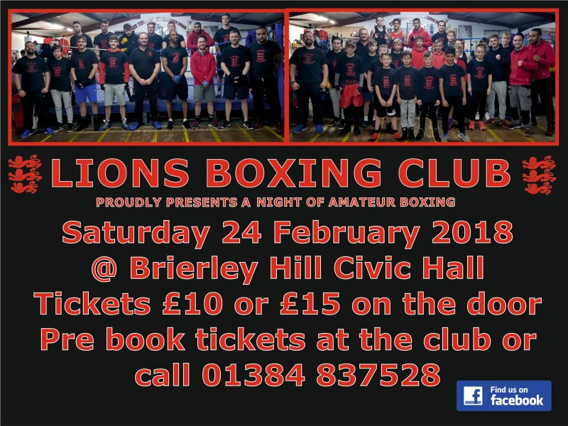 Brierley Hill Lions Boxing Night, 24th February 2018