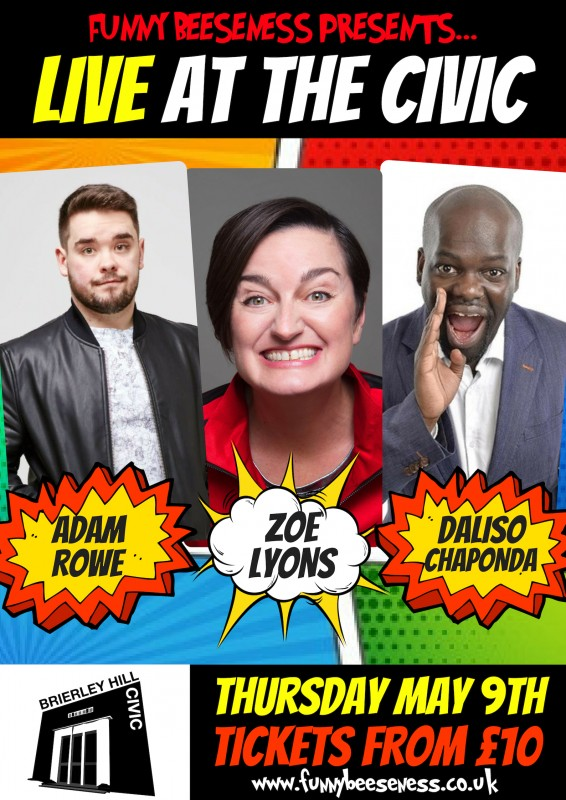 Live at the Civic Comedy Night, Thursday May 9th 2019