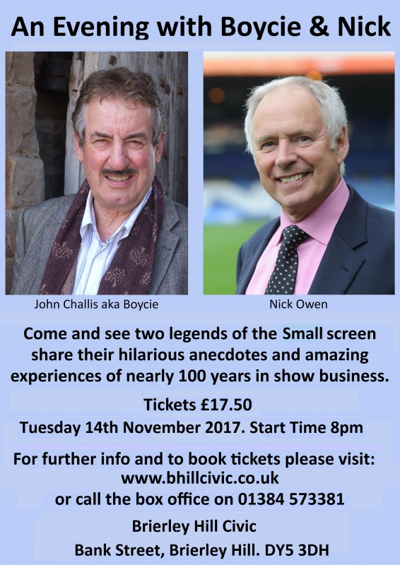 An Evening With Boycie & Nick, 14th November 2017