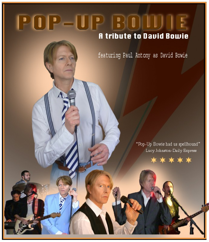 Pop-Up Bowie. A tribute to David Bowie. Saturday 8th July 2017