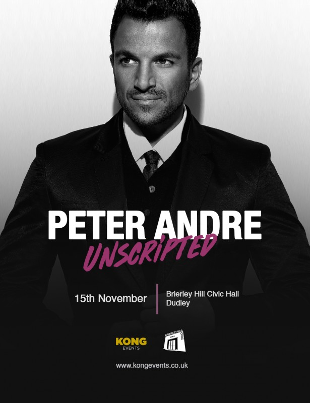 An Evening With Peter Andre - Unscripted. Thursday 15th November 2018