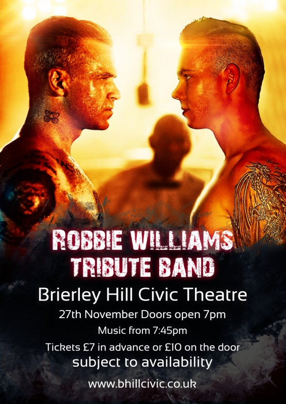 Robbie Williams Tribute Band - Angels Instead - Friday 27th November 2020