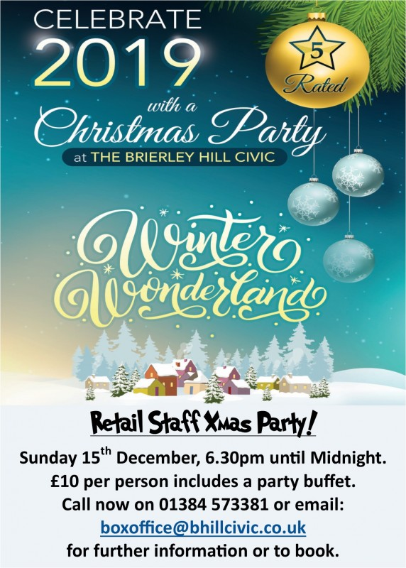 Retail Staff Christmas Party, 15th December 2019