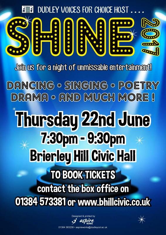 Shine 2017. Thursday 22nd June 2017