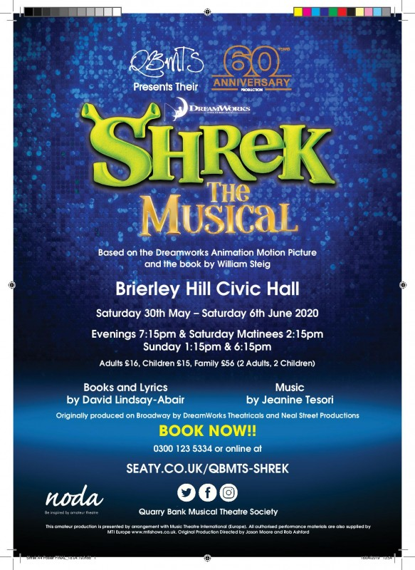 Shrek, The Musical, 30th May - 6th June 2020