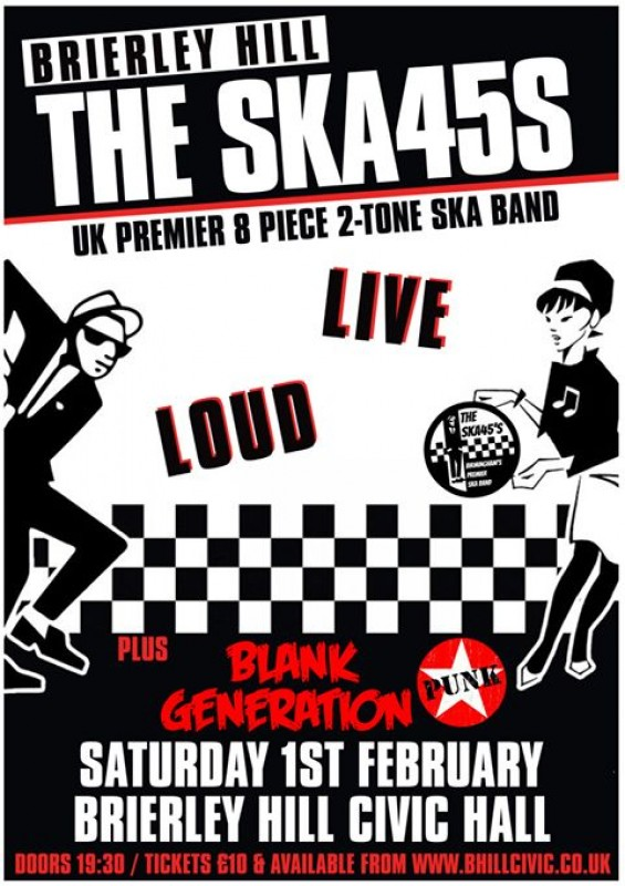 The Ska 45's + Live & DJ Support, Saturday 1st February 2020