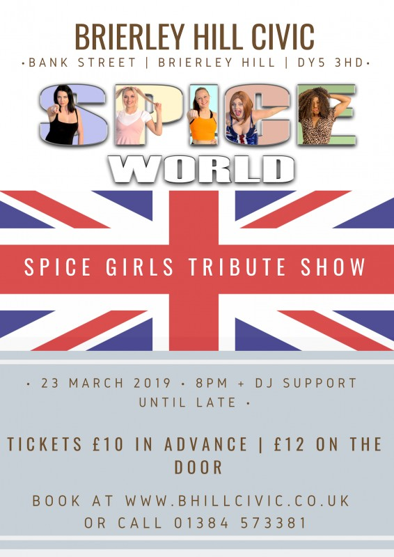 Spice World - Spice Girls Tribute + DJ Support Until late, 23rd March 2019