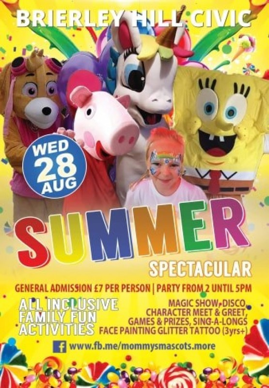 Kids Summer Spectacular party, 28th August 2019