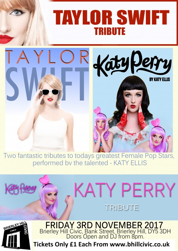 Taylor Swift & Katy Perry Tribute, Friday November 3rd 2017
