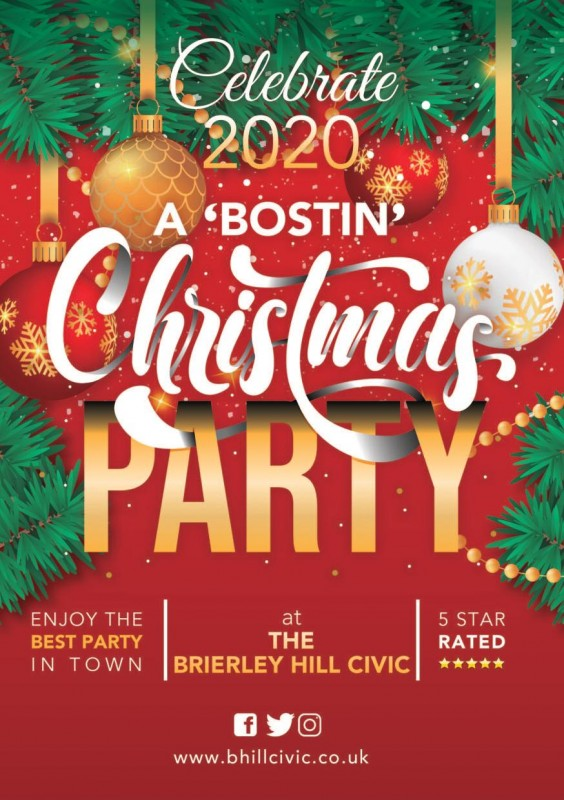 Christmas Parties 2020 - 'Bostin' Christmas Party!
