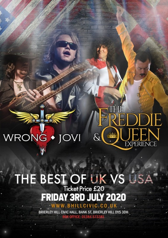 Wrong Jovi Vs The Freddie and Queen Experience, 3rd July 2020