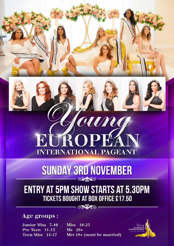 Young European International Pageant, 3rd November 2019