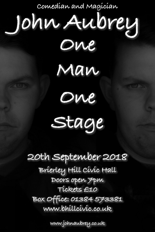 One Man, One Stage, 20th September 2018
