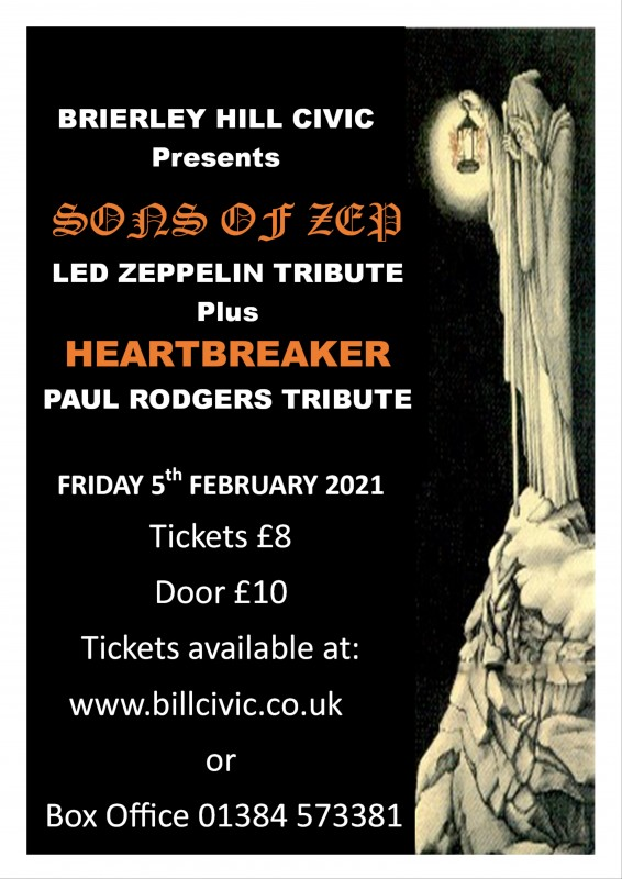 Sons Of Zep + Support From Heartbreaker, 5th February 2021