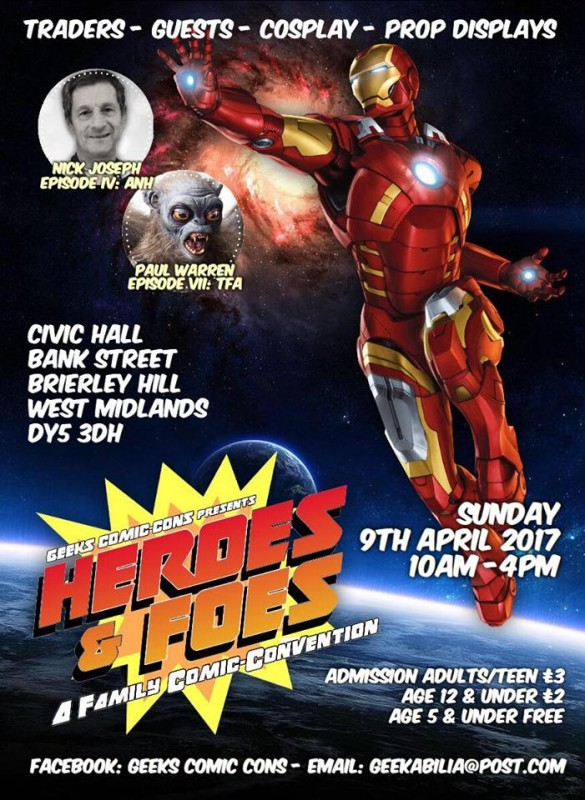 Geeks Comic-Cons Presents: Heroes and Foes