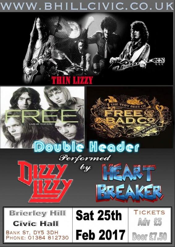 Dizzy Lizzy & Heart Breaker Classic Rock Night With DJ Until late.