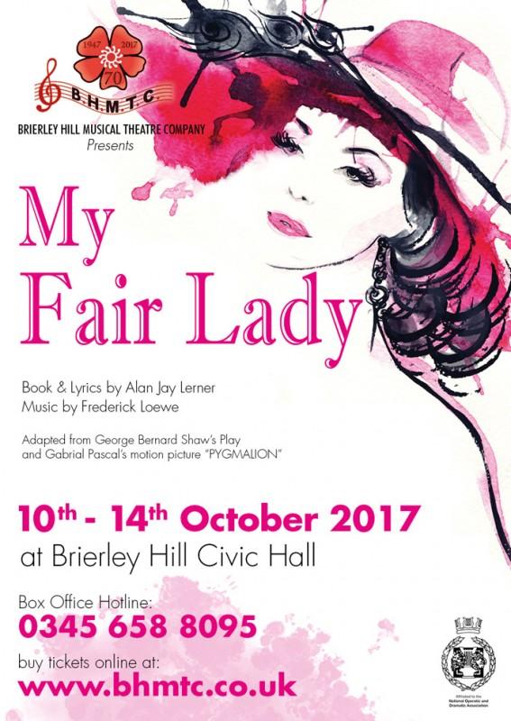 BHMTC Presents: My Fair Lady, 10th - 14th October 2017