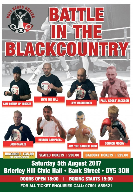 KPC Promotions Present: Battle in the Blackcountry. 5th August 2017