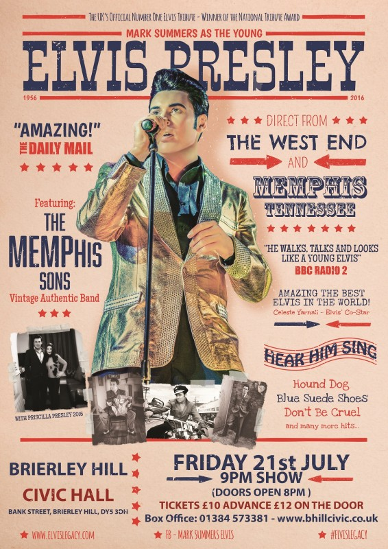 Elvis Legacy, Mark Summers and the Memphis Sons. 21st July 2017