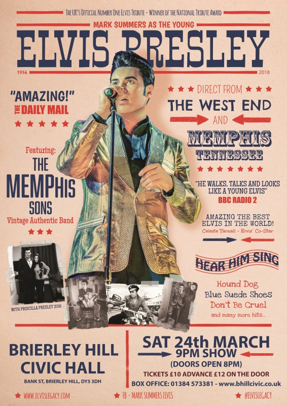 Elvis Legacy, Mark Summers and the Memphis Sons. 24th March 2018