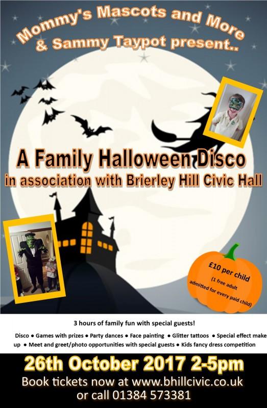 Family Halloween Disco, 26th October 2017